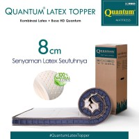 Quantum Latex Topper 8 cm Mattress / Kasur Springbed / Spring Bed - 90 x 200