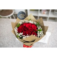 Buket Bunga Asli Fresh Hand Bouquet Rose Flower birthday valentine box