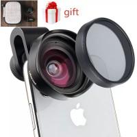 Ulanzi Lens 16mm Lensa Wide Angel w CPL Filter Lensa Mobile Smartphone