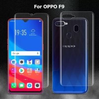 OPPO F9 ANTI GORES DEPAN BELAKANG HYDROGEL BACK SCREEN PROTECTOR F9
