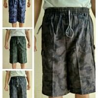 Celana Cargo Celana pendek pria Kantong Tutup -STD