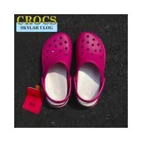 Crocs Skylar Clog Sepatu Sandal Wanita Original - Berry