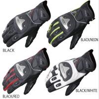 Sarung Tangan Komine GK-170 B-Black- Safety Biker Full Gloves Touri