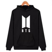 Hoodie BTS Logo - Hitam