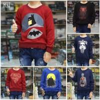 sweater anak superhero terbaru 1 - 8 tahun