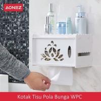 AONEZ Kotak Tisu Pola Bunga WPC Tissue box