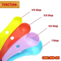Sendok Takar 4 in 1 Dapur cup tbsp ml Measurement Spoon