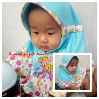 Jilbab Bayi Kaos Super Serut Onde Bordir Kuda Poni