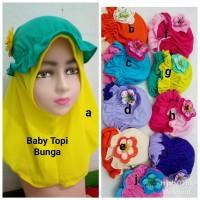 Jilbab Anak Kaos Harian Bayi Topi Bunga