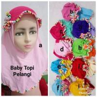 Jilbab Anak Kaos Harian Bayi Topi Pelangi