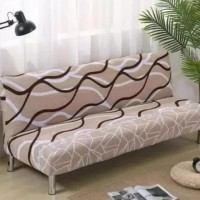 Cover Sofa Bed / Sarung Sofa Bed - Coklat Salur