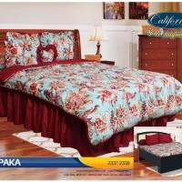 Sprei Bed Cover California Cempaka King 180 X 200 Terbaru