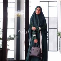 Fresia Set Emerald by AMILY / Gamis set khimar / Gamis pesta