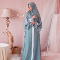 Fresia Set Royal Blue by AMILY / Gamis set khimar / Gamis pesta