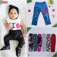 Legging Motif uk 3-18 Bulan / Leging Bayi Perempuan Panjang Ketat Adem