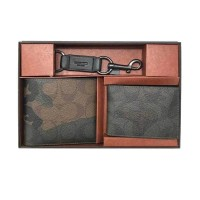 Fossil Coach Gift Set Wallet Color Camo Green Military Dompet Pria [F3