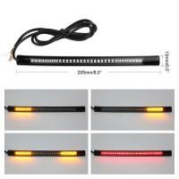 Lampu Strip 48LED Fleksibel untuk Sinyal Rem Sein Motor Led
