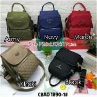 CB1890-1 Tas Ransel Wanita Import BackPack Chibao Bordir 2in1 uk Small