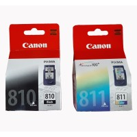 Tinta Canon pixma 810 black + 811 Color catridge Original for IP2770