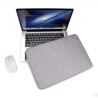 Tas Laptop Softcase Waterproof Nylon High Quality 11 12 inch - grey