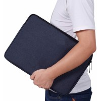 Tas Laptop Softcase Waterproof Nylon High Quality 14 inch - Navy Blue