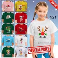 GRATIS NAMA/TULISAN-Kaos Natal DEWASA/ANAK TERBARU,best seller,murah.