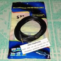 Kabel jack audio extension 3.5 mm panjang 5M gold Audio mele to fimel