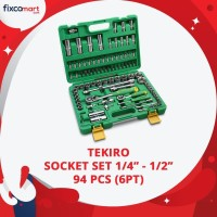 Tekiro Socket Set 94 Pcs 6PT - Kunci Sock Set