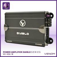 power 4ch amplifier venom diablo vo 406 m series