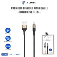 Ultimate Power Premium Braided Kabel Data Cable Honor Series Type C
