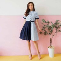 Baju Wanita FEYNITA COMBI DRESS
