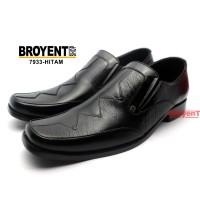 Sepatu Pria Kerja Kantor Pantofel Kulit Sapi Asli Warna Hitam 7933