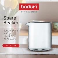 SPARE BEAKER Spare glass, 4 cup, 0.5 l, 17 oz, dia 9.6 cm, H 12.5 cm