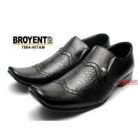 Sepatu Pria Kerja Kantor Pantofel Kulit Sapi Asli Hitam 7984