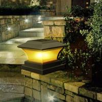 Lampu Tenaga Surya LED Pagar Pilar Outdoor