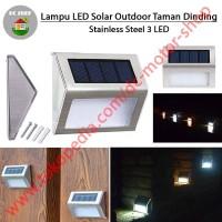 Lampu LED Outdoor Tenaga Surya Solar Cell Lampu Taman Dinding Stainles