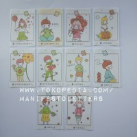 Vellum Sticker Kids in Panel 5 pcs journaling kit mailart deco kawaii