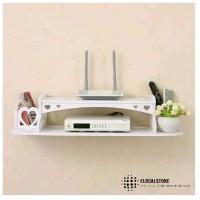 Multifunction Floating Rack Rak Dinding Serbaguna TV Kabel PS Modem