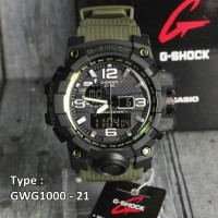 Jam Tangan Pria Gshock G-SHOCK GWG 1000/ Tali Hijau Army skmei digitec