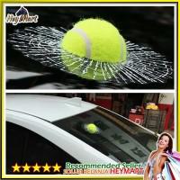 Decal Bola Tenis 3D Stiker Kaca Pecah - Sticker Tempelan Kaca Hiasan D