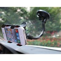 Car Holder HP Smartphone kaca mobl Windshield Double Clip Hitam Brack