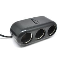Car Charger Cigarette Lighter Splitter 3 Socket with LED Indicator 12V