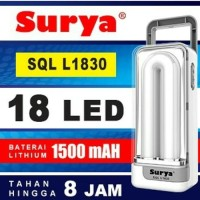 Surya EMERGENCY SQL L1830 Cas Lampu LED Darurat RECHARGEABLE