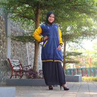 Jaket Mecink Adley Original | Jaket Muslimah Panjang Wanita hijab