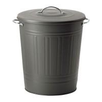 KNODD Tempat sampah ukuran jumbo dg penutup, abu abu
