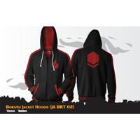 Jaket Anime Boruto Casual Hoodie Jacket Naruto Hitam JA BRT 02