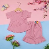 [POLOS] Setelan Lolly Anak uk 1-2 Tahun / Atasan Bawahan Rok Perempuan - POLOS - ROK