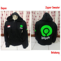 JAKET HOODIE SWEATER GOJEK INDONESIA S M L XL XXL