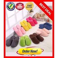 Sandal Tidur Rumah Polos / Sendal kamar bulu kain Home slipper indoor