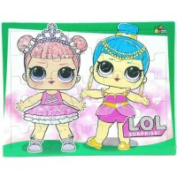 mainan edukasi anak puzzle anak karakter lol surprise